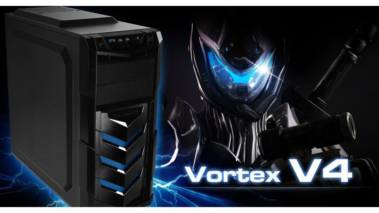 Das Raidmax Vortex 4 blue-Gehäuse gibt es ohne Fenster ab sofort exklusiv beim Distributor Ecom.