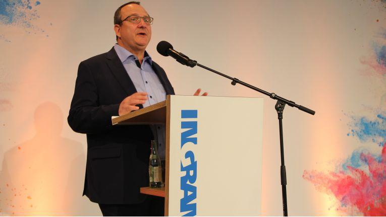 Ingram-Micro-Deutschlandchef Ernesto Schmutter eröffnet die die 17. Auflage der Hausmesse IM.Top.