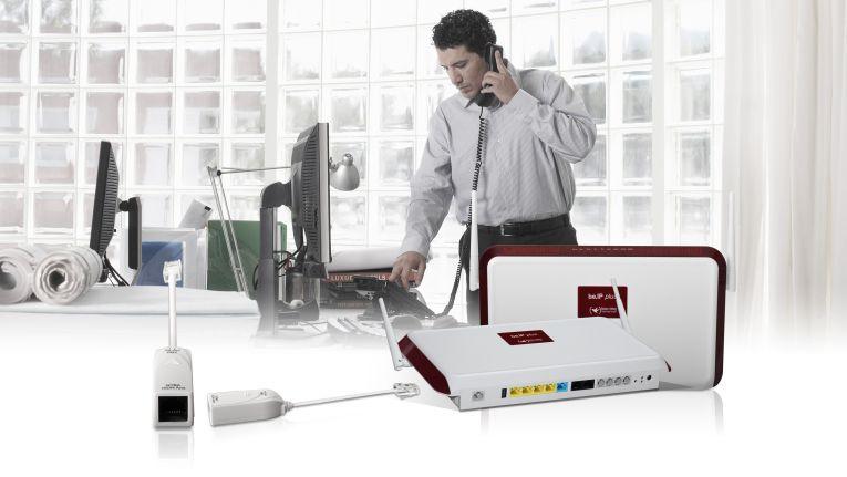 Mit dem ISDN-TE-Adapter der bintec elmeg GmbH lässt sich das All-IP System be.IP plus an ISDN-Anschlüssen einsetzen.