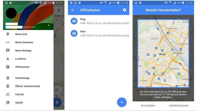 Mit den Offlinekarten in Google Maps kann man auch ohne Internet Funktionen wie Adressuche, Routenplaner und Lokalfinder nutzen.