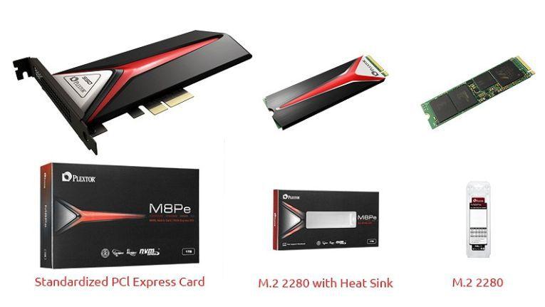 Entwickelt für extreme Spiele: Die Plextor SSD unterstützt PCIe Gen3 x4 und die erweiterte NVMe Spezifikationen. Ein Kühlkörper soll die hohe Leistung zuverlässig sichern.