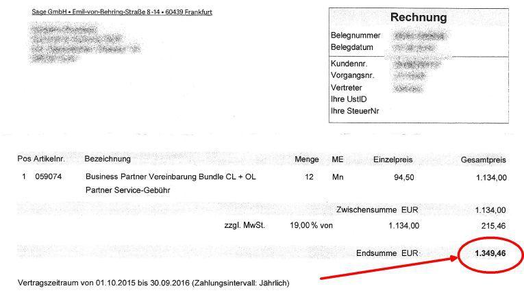 Rund 1.350 Euro sollte der thüringer Händler bezahlen. Die Rechnung wird aber laut Sage umgehend storniert.