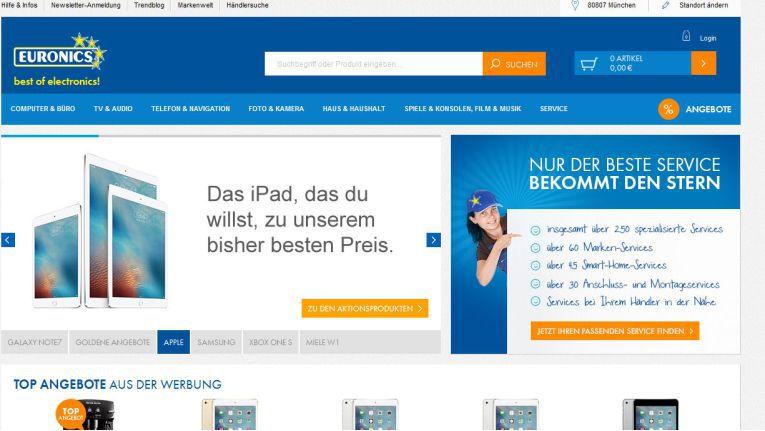 Euronics' bisheriger Payment-Dienstleister, konnte nicht alle gewünschten Zahlungsmittel für einen händlerübergreifenden Warenkorb anbieten.