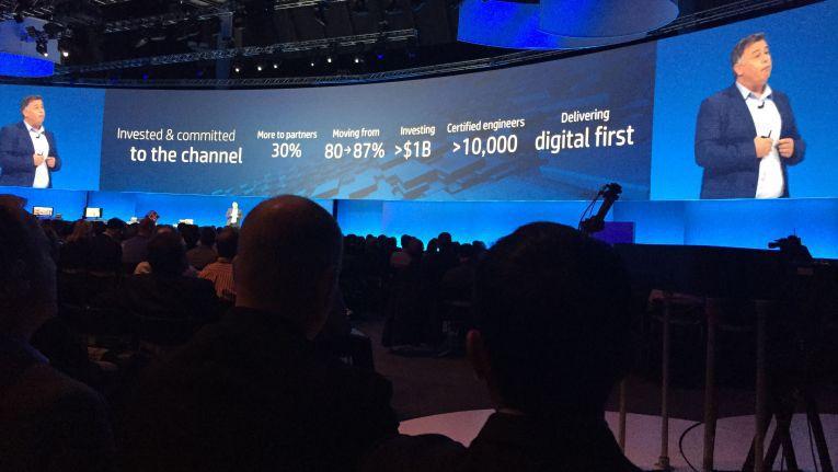 """Dion Weisler, President und CEO von HP Inc.: """"Seit dem Split ist das Anteil des Partnergeschäfts am Gesamtumsatz von HP Inc. um sieben Prozentpunkte auf 87 Prozent gewachsen"""""""