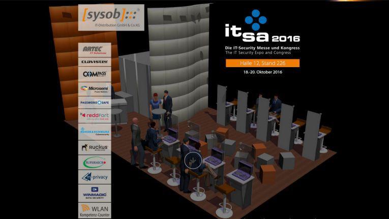Gleich 13 Herteller und Dienstleister hat Sysob auf seinem it-sa-Stand versammelt.