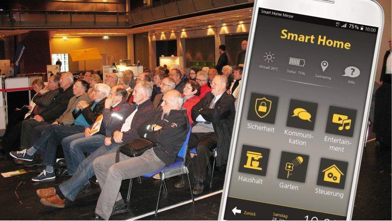 Endkunden können sich bei der Smart Home Messe in Germering in Vorträgen und an Messeständen über Lösungen rund um das intelligente Heim informieren.