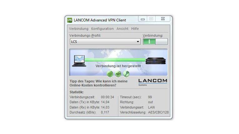 Der neue VPN-Client von Lancom unterstützt jetzt auch VPN-Bypass, Home Zone und bietet erweiterte Roaming-Funktionen.