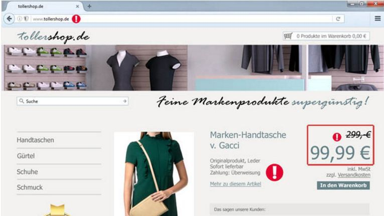 Mit einer interaktiven Darstellung eines typischen Fake Shops will die Verbraucherzentrale NRW verhindern, dass Käufer im Internet Opfer von Online-Betrügern werden.