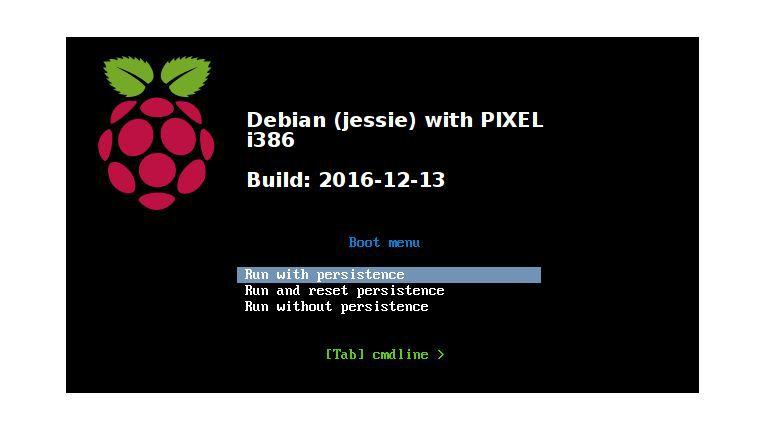 Das Pixel-Startmenü bietet auch einen persistenten Modus an.