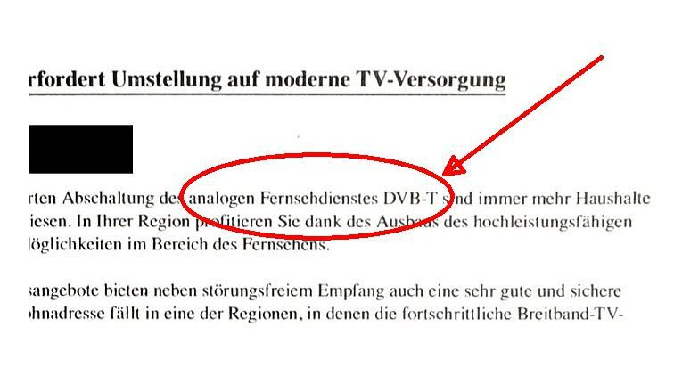 Eine Erfindung des Telekommunikationskonzerns Vodafone: Das ''analoge'' Digital Video Broadcasting Terrestrial (DVB-T).