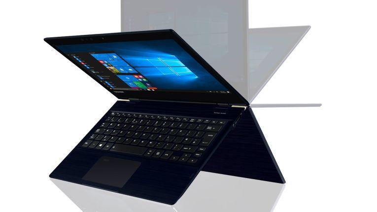 Das schlanke und flexible Hybridgerät soll laut Toshiba im neuen Design Mobilität, Sicherheit und Zuverlässigkeit vereinen.