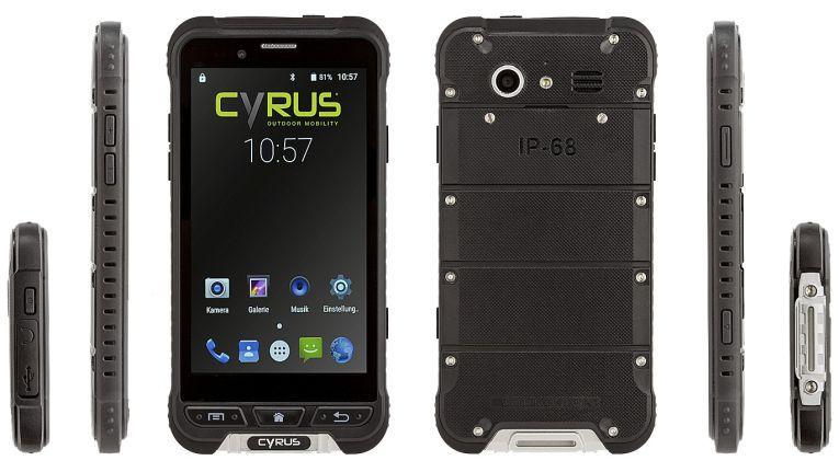 """Cyrus will mit seinem Top-Modell CS35 beweisen, dass ein Outdoor- Smartphone nicht immer """"grob gestrickt"""" sein muss."""