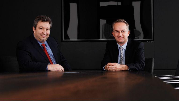 Die Cancom Vorstände Rudolf Hotter (links) und Mitgründer Klaus Weinmann freuen sich auf die bisher größte Veranstaltung in der 25-jährigen Unternehmensgeschichte.