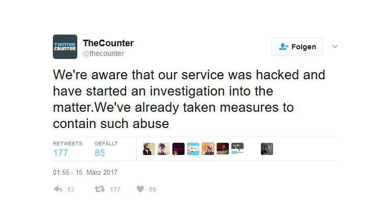 The Counter gesteht Twitter-Hack ein