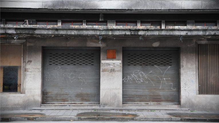 Ein Ladengeschäft: nur geschlossen, oder bereits aufgegeben?