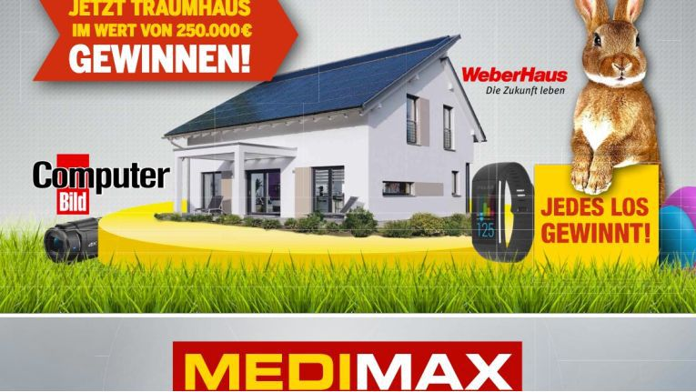 fachmarktkette startet osteraktion medimax verlost ein traumhaus. Black Bedroom Furniture Sets. Home Design Ideas