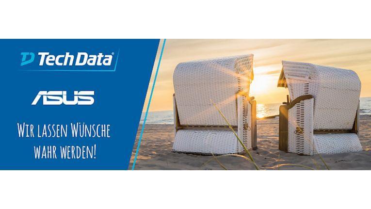 Sonne, Strand und Frühling sollen die Tech Data-Fachhandelspartner zu mehr Umsatz mit Asus Notebooks und All-in-one-Geräten motivieren, so die Strategie der Initiatoren.