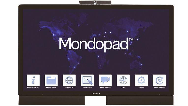 Mondopad (Bild), BigTouch, JTouch und DigiEasel bieten mit FullHD- oder 4K-Auflösung, leistungsstarker Touch-Technologie und, je nach Produkt, einen integrierten Windows-Rechner samt Softwarelösung für Videoconferencing, Digital Signage und Collaboration im Großformat.