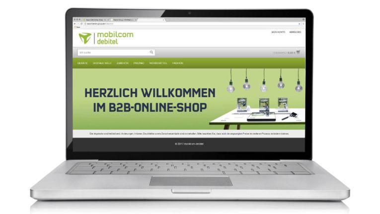 Neue Oberfläche und neue Funktionen: Der B2B-Shop von Mobilcom-Debitel