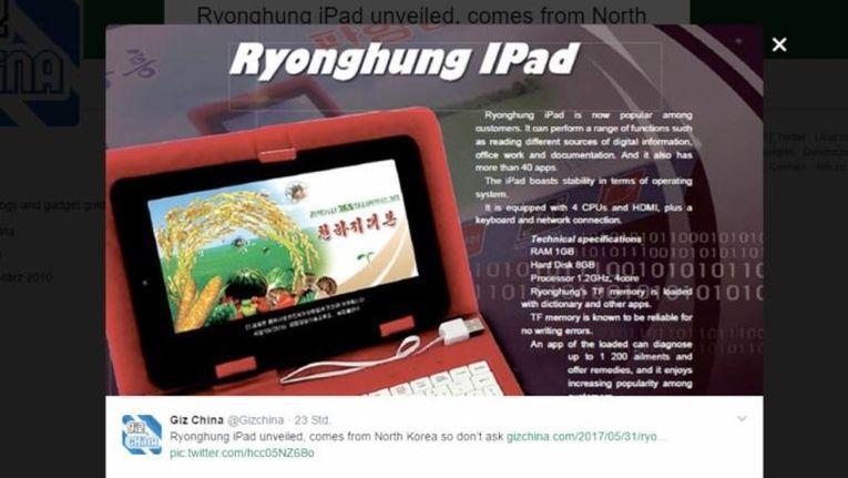 Ryonghung iPad: Nordkorea verkauft eigenes iPad