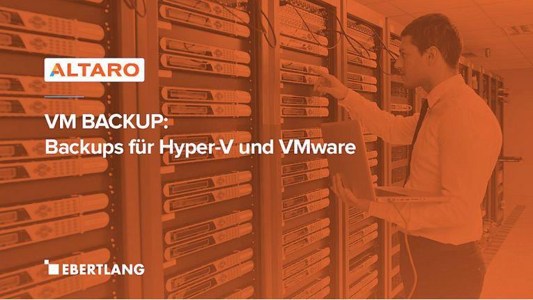 Altaro VM-Backups können sowohl klassisch umgesetzt als auch als Managed Service angeboten werden und ergänzen so Ebertlangs Portfolio optimal.