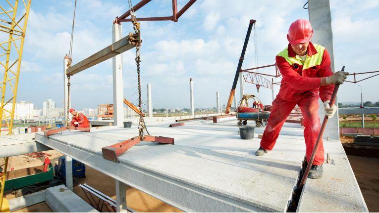 Eine Baustelle in der Nähe kann für eine starke Belastung der Atemluft durch Staub verantwortlich sein.