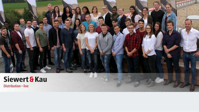 Derzeit arbeiten insgesamt 45 Nachwuchskräfte und Berufseinsteiger bei Siewert und Kau.