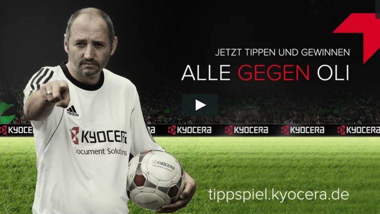 Zum Bundesligastart hat Kyocera ein attraktives Tippspiel aufgelegt. Prominenter Mittipper ist Ex-Nationalspieler Oliver Neuville.
