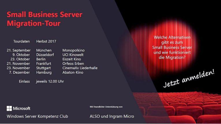 Sechs Städte, sechs Veranstaltungen mit Information und Unterhaltung zum Thema Small Business Server - dargeboten von Manfred Helber und Sven Langenfeld.