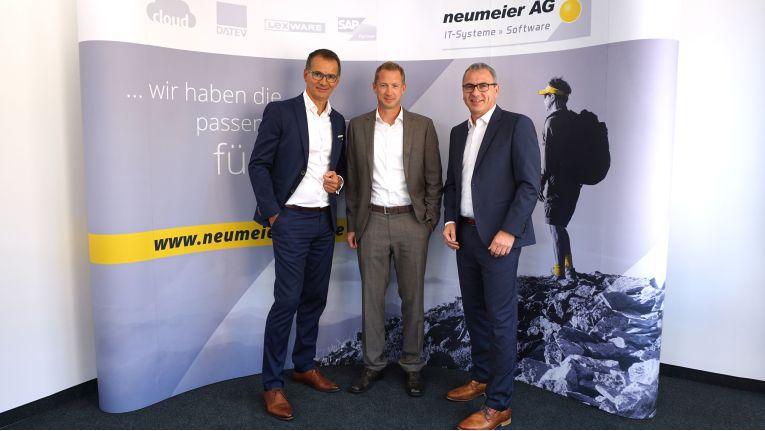 Der neue zusammengesetzte Vorstand der Neumeier AG: Andreas Bortoli (Vorstand Vertrieb und Marketing), Josef Braunrieder (Vorstand Technik) und Thomas Neumeier (Vorstandsvorsitzender).