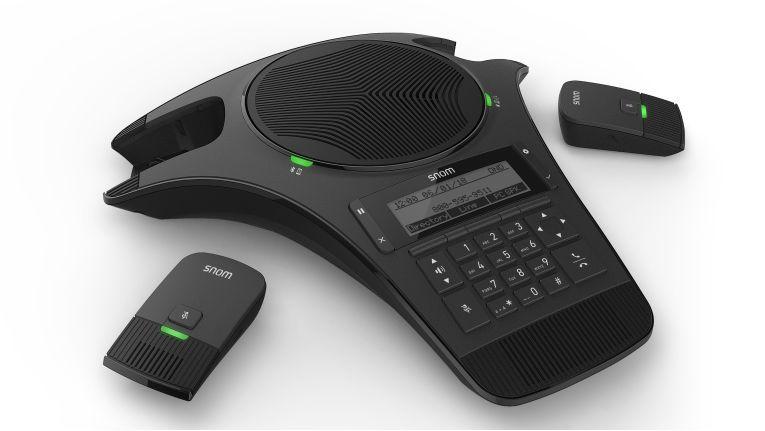Moderne IP-Telefone wie das C520 von Snom lassen sich künftig auch mieten.