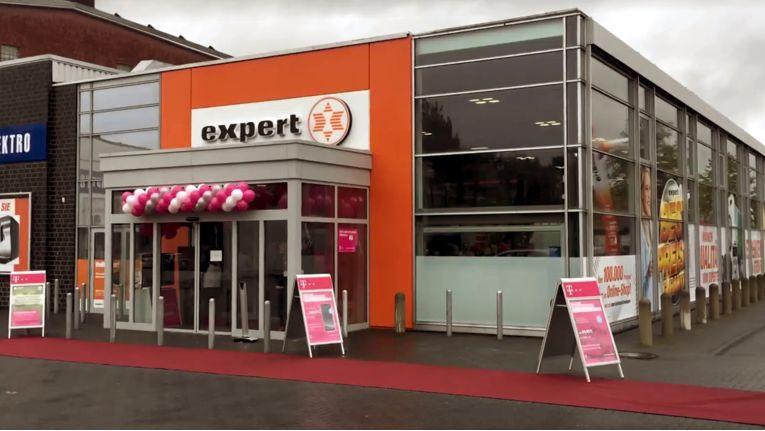 Das neue Shop-in-Shop-Konzept der Telekom feierte Premiere bei Expert Media-Park in Steinfurt