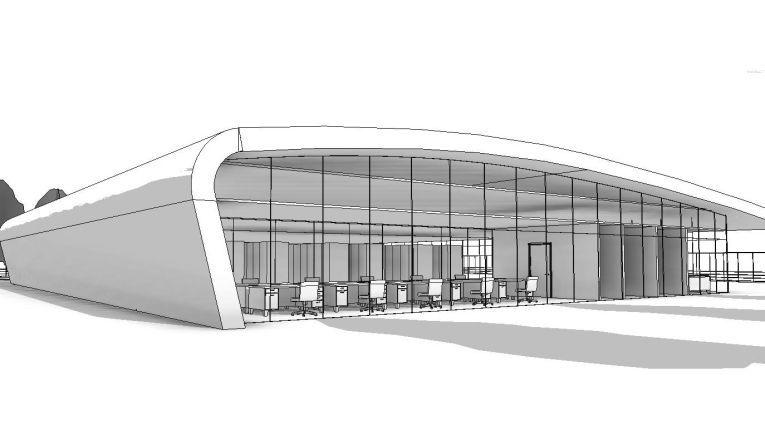 Das Rechenzentrum im Entwurf.
