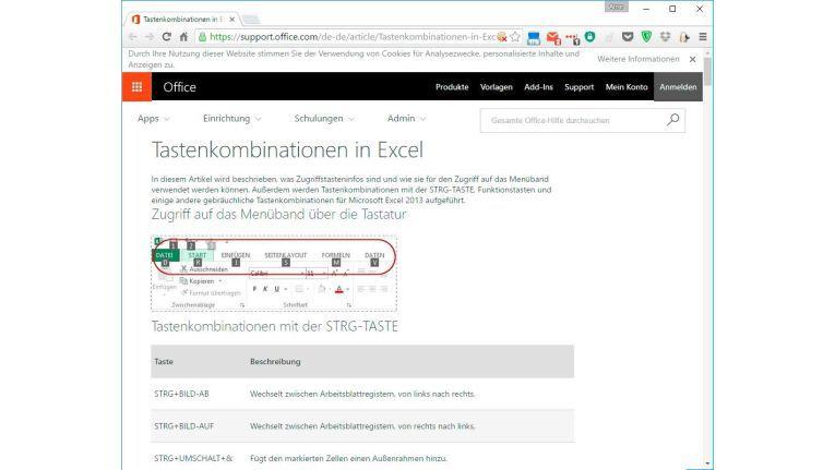 Die Taste F2 wechselt in Microsoft Excel in den Bearbeitungsmodus der aktuellen Zelle. Einen Überblick über alle Tastenkombination für Excel liefert diese Website (Punkt 11).