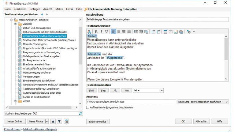 Phrase Express fügt für Sie automatisch Textbausteine in Office-Anwendungen, Editoren und Mail-Programmen ein.