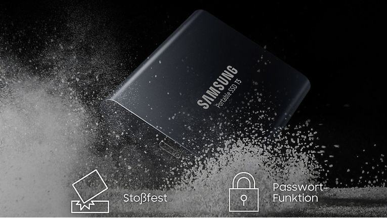 Wer unsere fünf Fragen rund um die Samsung Portable SSD T5 richtig beantwortet, hat die Chance, einen der robusten mobilen Speicher zu gewinnen.
