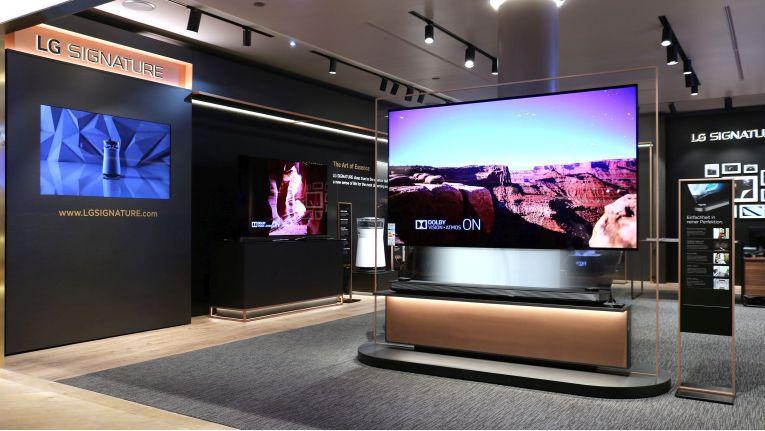 Au 70 Quadratmetern präsentiert LG die Premiummarke LG Signature im Münchner Kaufhaus Oberpollinger.