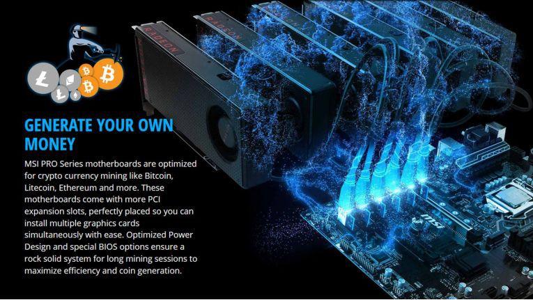 """Das Mainboard MSI Z370-A PRO wird vom Hersteller mit dem Slogan """"Generate your own money"""" beworben."""
