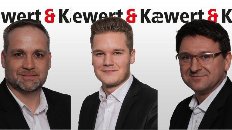 Neu bei Siewert & Kau an Bord: Die Focus Sales Manager Frank Hommen und Ricardo Gröhlich sowie Business Development Manager Thomas Kolbe.