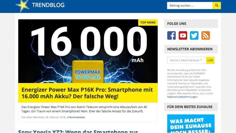 Kam auf Platz der deutschen Unternehmensblogs: Der Trendblog der Verbundgruppe Euronics