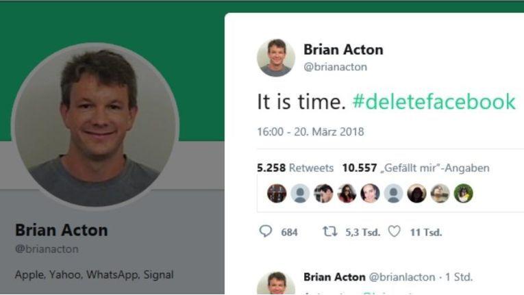 Tweet von Brian Acton