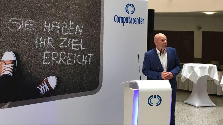 Heiko Kahl, Director GIO Service Transition und verantwortlich für den Computacenter-Standort Erfurt, bei der Eröffnung der neuen Büroräume des Unternehmens.