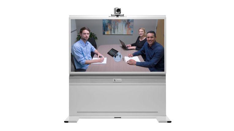Die Videokonferenzlösung RealPresence Medialign mit 70-Zoll-Display von Polycom ist Teil des von Westcon-Comstor im Democenter in Mönchengladbach gezeigten UCC-Portfolios.