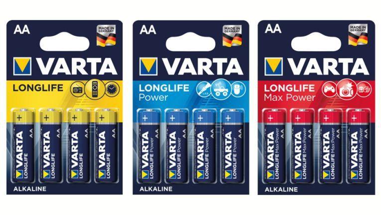 Mit neu gestalteten Verpackungen will Varta Verbraucher am PoS besser ansprechen.