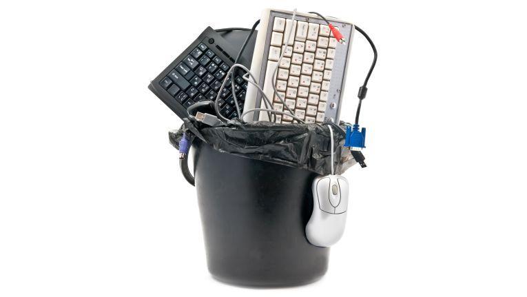 Mäuse und Tastaturen eigenen sich aufgrund des geringen Anschaffungspreises selten zur Wiederaufbereitung. Bei Monitoren und Druckern sieht das anders aus.