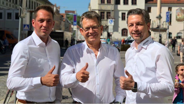 Karim Mürl, Martin Steyer und Heribert Moosburner bilden das neue Printvision-Vorstandstrio. Ende des Jahres wird Moosburner das Unternehmen dann verlassen