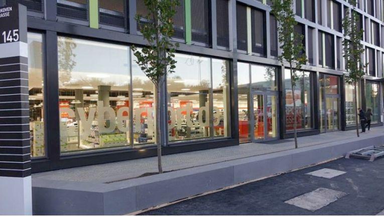 Seit Anfang August geschlossen: Der Cyberport Store im Einkaufszentrum Mona München