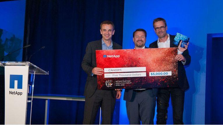 Cancom zeichnete NetApp auf der Top-Partner-Veranstaltung im Juni in Sevilla mit einem Award für das herausragende Engagement bei der Positionierung der NetApp Data Fabric aus.