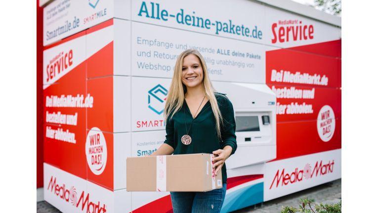Die smarte Paketstation am Campus von Media-Saturn in Ingolstadt