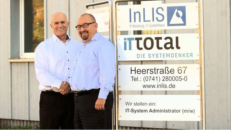 Von links: Inlis-Geschäftsführer Klaus Zehnder und IT Total-Vorstand Michael Hammer, wollen gemeinsam mit Fulfillment-Service die ganze Palette der IT abbilden.